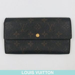 Auth Louis Vuitton Monogram bi-fold wallet M61725